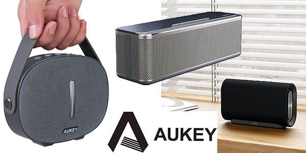 altavoces portátiles Aukey rebajados con cupón descuento en Amazon agosto 2017