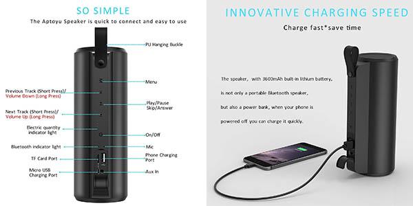 altavoz bluetooth puerto USB de carga con gran relación calidad-precio
