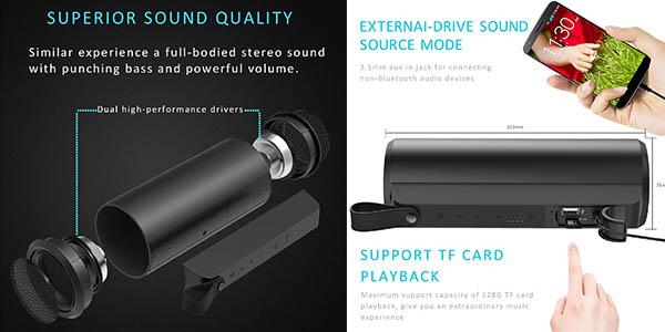 altavoz portátil gran calidad sonora y tamaño compacto chollo