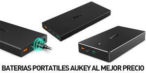 Baterías portátiles Aukey baratas
