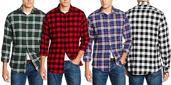 camisas Redford para hombre en cuadros de franela baratas