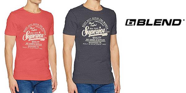 camiseta Blend de manga corta en algodón para hombre barata