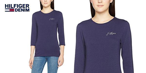 Camiseta Lizzy C-NK de Tommy Hilfiger para mujer chollo en Amazon