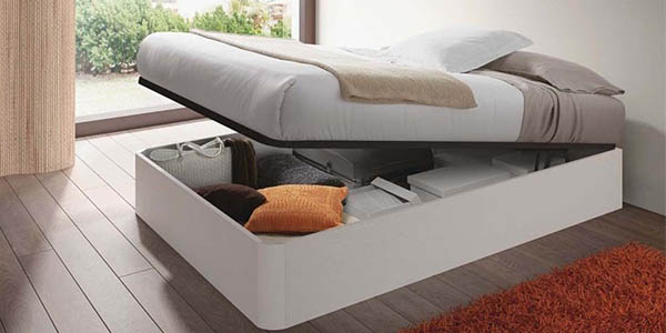 canapé abatible para cama doble de gran capacidad de almacenaje