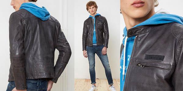 chaqueta casual de cuero auténtico Pepe Jeans Lennon 17 chollo