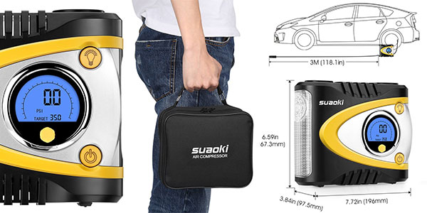 Compresor de aire con luz LED Suaoki B24A al mejor precio en Amazon