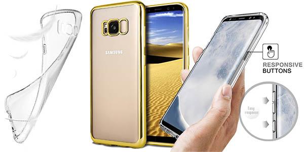 funda Samsung Galaxy S8 transparente en silicona barata