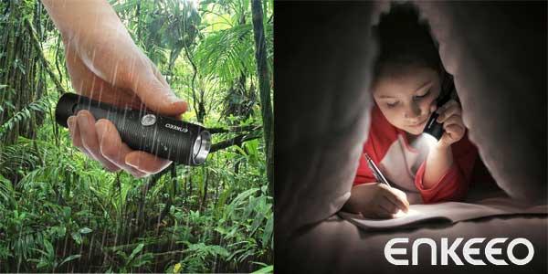 Linterna LED Enkeeo de 4000 mAH barata en Amazon