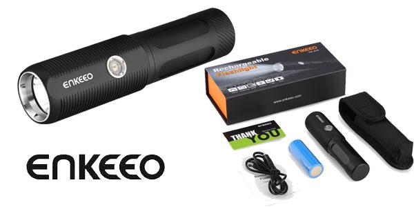 Linterna LED Enkeeo de 4000 mAH chollo en Amazon