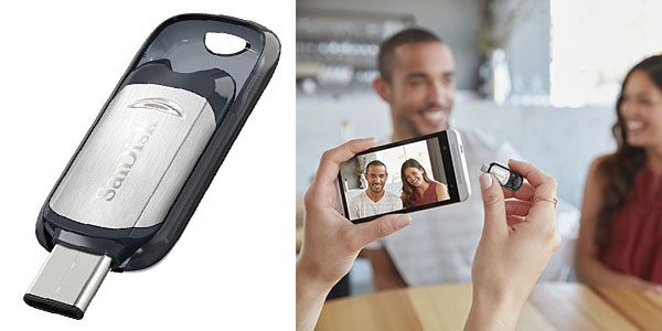 Memoria flash SanDisk SDZC450-128G-G46 Ultra USB C al mejor precio