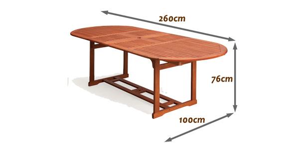 Mesa de jardín de madera de eucalipto Moreno de Tisch chollo en eBay