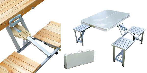 mesa plegable para pícnic resistente y con genial relación calidad-precio
