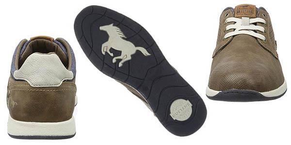 Mustang zapatillas de diseño casual en terciopelo sintético transpirables y suela de goma