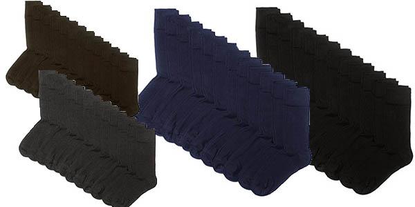 pack 12 calcetines básicos altos para hombre baratos