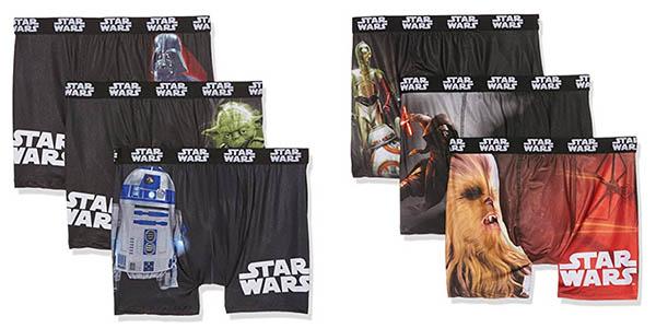 Pack 3 bóxers Star Wars baratos