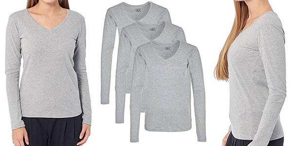 pack de 3 camisetas Berydale de manga larga para mujer baratas