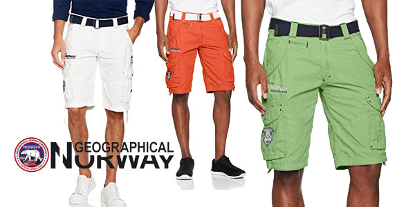 Pantalones cortos de hombre Geographical Norway Assort Men B chollo en Amazon