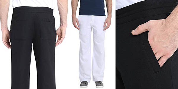 pantalones de lino James Tyler para hombre baratos