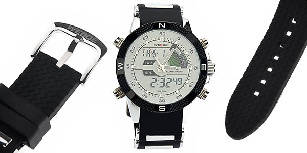 reloj de pulsera de cuarz Weide Pixnor dia mes hora y funciones varias