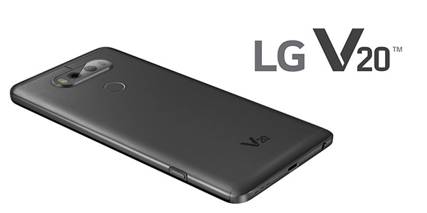 Smartphone libre LG V20 Dual con 4 GB RAM Titan Black barato