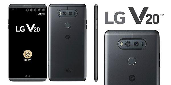 Smartphone libre LG V20 Dual 64 GB ROM negro barato