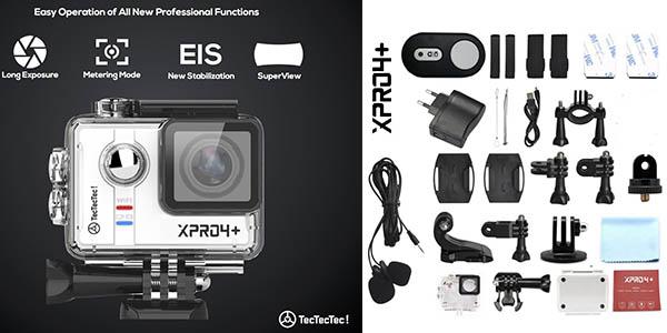 TecTecTec XPRO4+ videocámara deportiva con conexión WiFi y bluetooth