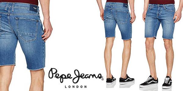 vaqueros cortos Pepe Jeans Chap para hombre baratos