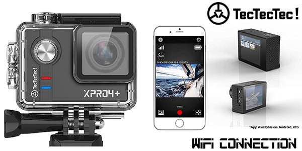 Videocámara TecTecTec XPRO4+ pantalla Full HD sumergible oferta flash Amazon