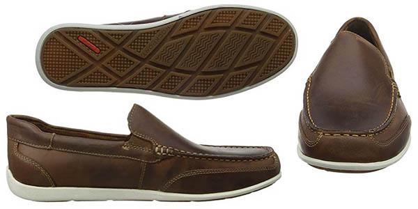 zapatos cómodos en cuero marrón Rockport Bennett Lane relación calidad-precio brutal