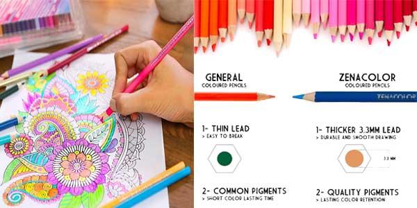 Set de 72 lápices de colores Zenacolor chollazo en Amazon