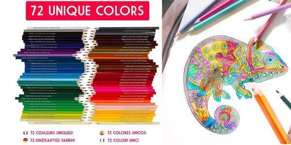 Set de 72 lápices de colores Zenacolor baratos en Amazon