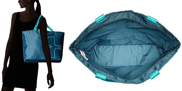 bolso tote bag con monedero interior y tejido impermeable resistente
