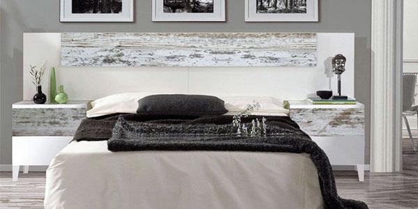 Cabecero y mesitas de noche con efecto vintage de Duohome chollazo en eBay