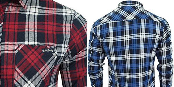 Camisa Tokyo Laundry Carlsson en color azul o rojo