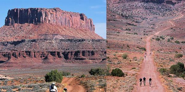 Canyonlands National Park Utah carretera junto al río Colorado