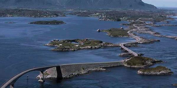carretera Atlantic Ocean Road Noruega