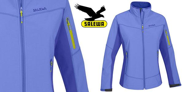 Chaqueta de softshell Salewa Geisler de color azul para mujer barata