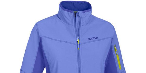 Chaqueta de softshell Salewa Geisler de color azul para mujer al mejor precio