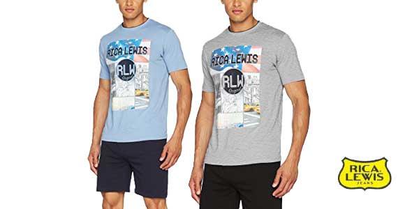 Conjunto camiseta y pantalón Rica Lewis Jeans chollo en Amazon