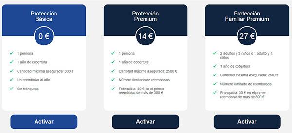coste seguro cancelación de viajes PayPal reembolso gastos terceros viajeros