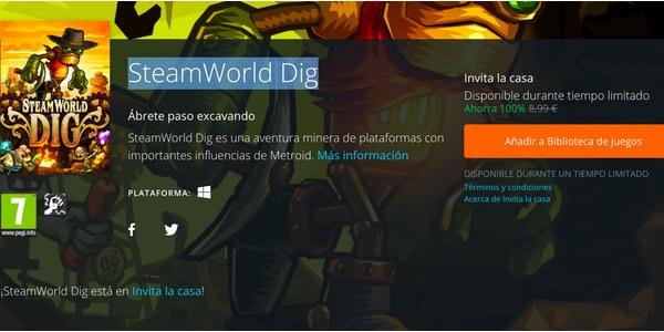 SteamWorld Dig Origin Invita la casa