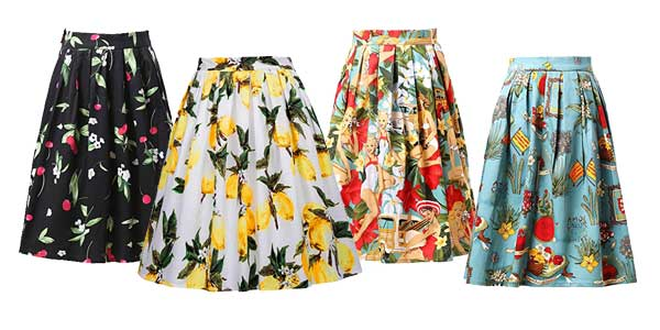 Faldas plisadas Grace Karin con largo midi estilo vintage chollo en Amazon