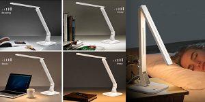 Lámpara LED de escritorio Taotronics con USB de 14 w y 4 modos barata