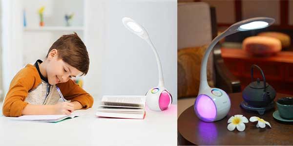 Lámpara LED Wilit de mesa con luz multicolor regulable, panel táctil y 3 niveles de brillo chollazo en Amazon