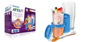 Juego de 20 recipientes Philips SCF721/20 Avent para comida de bebé con tapa chollo en Amazon