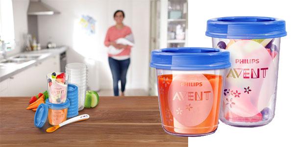 Juego de 20 recipientes Philips SCF721/20 Avent para comida de bebé con tapa barato en Amazon