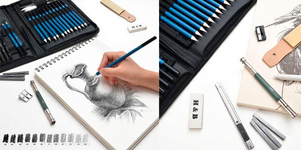 Set profesional para dibujo artistico al mejor precio en Amazon