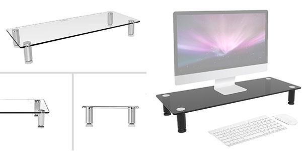 Soporte de cristal de diseño para monitor o PC Al-In-One rebajado