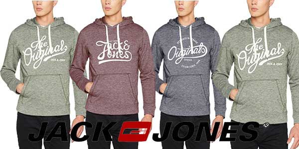 Sudadera para hombre Jorpanther Noos de Jack & Jones chollo en Amazon