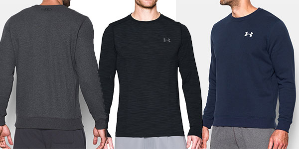 Sudadera Under Armour Rival Solid Fitted Crew rebajada